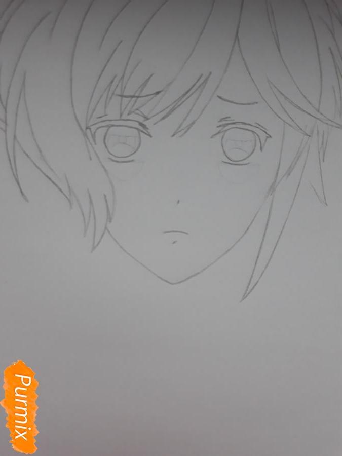 Рисуем Канато Сакамаки из Дьявольских Возлюбленных - шаг 3