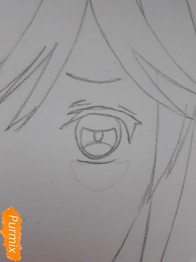 Рисуем Канато Сакамаки из Дьявольских Возлюбленных - шаг 4