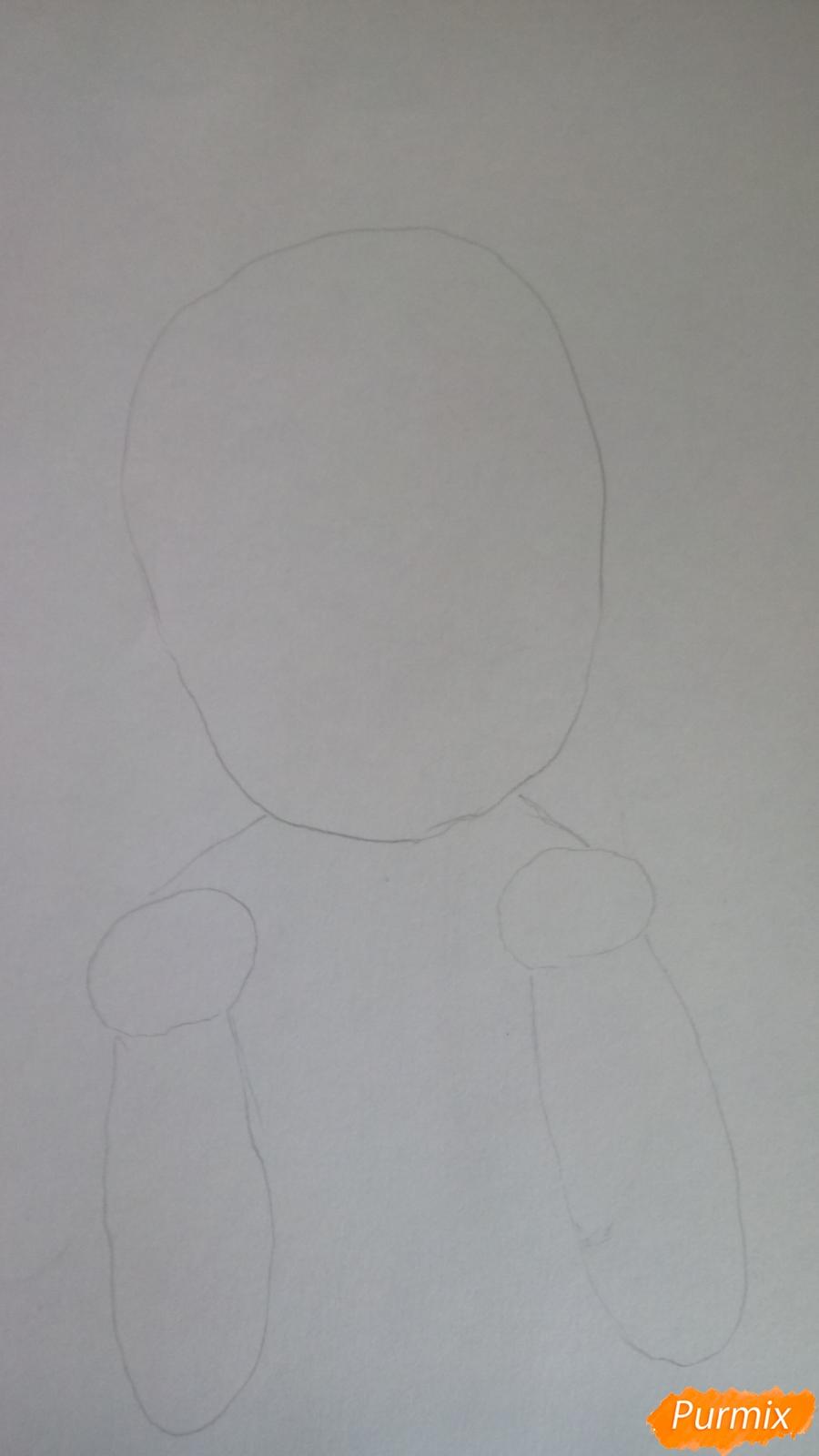Рисуем Канну из аниме Дракон-горничная карандашами - шаг 1