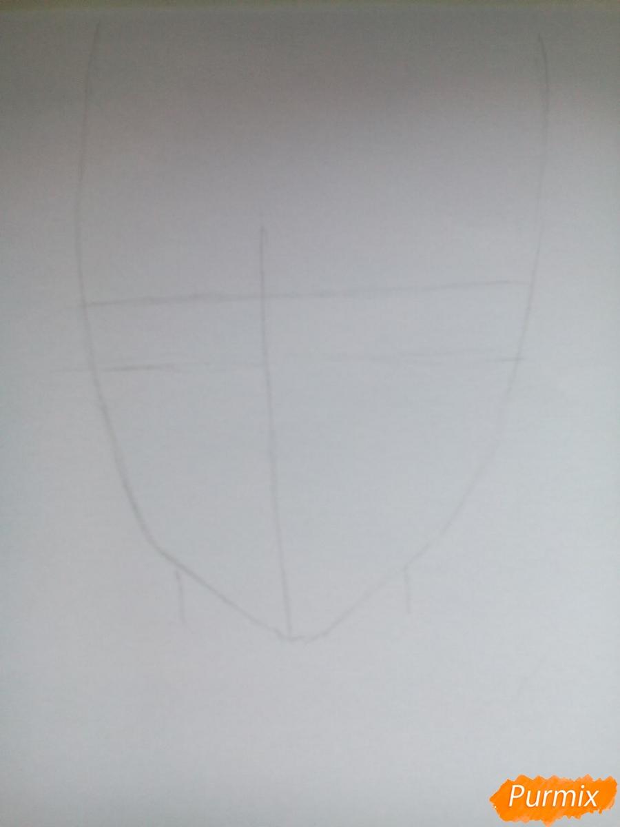 Рисуем Карла Цукинами из аниме Дьявольские возлюбленные - шаг 1