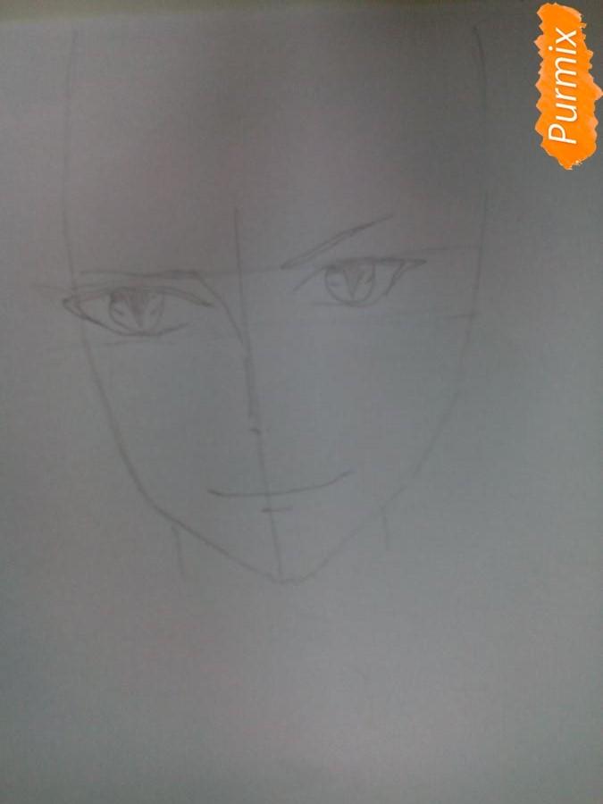 Рисуем Карла Цукинами из аниме Дьявольские возлюбленные - шаг 2