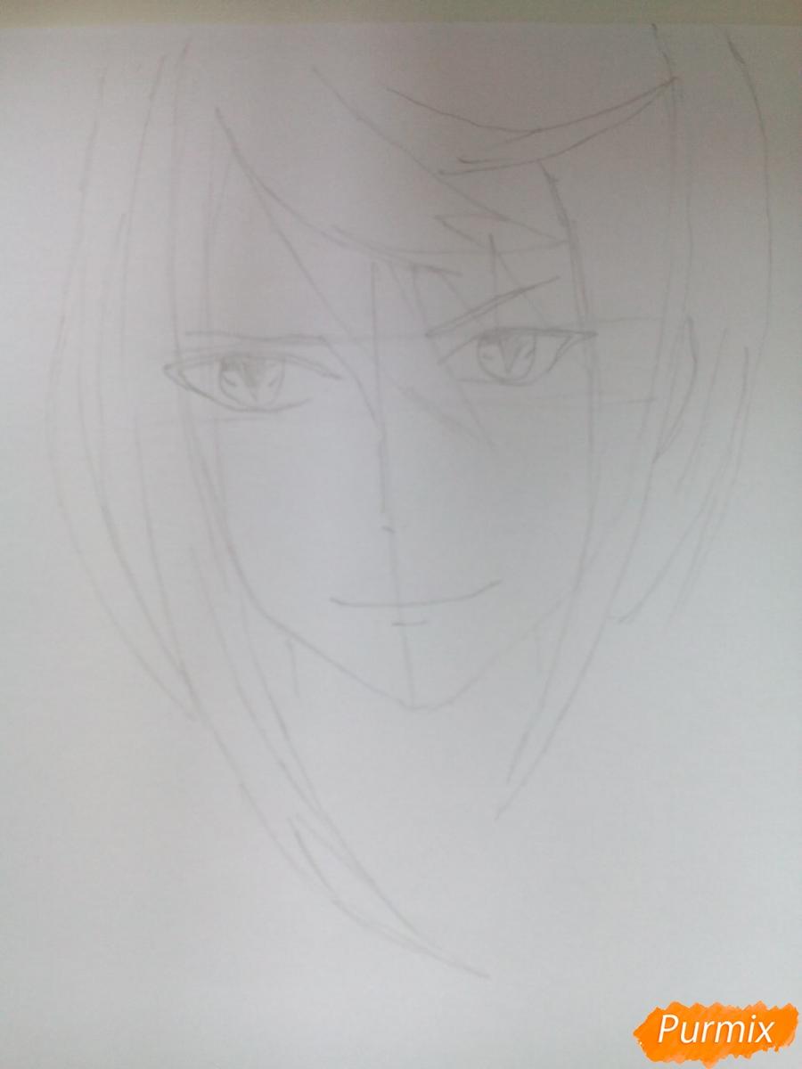 Рисуем Карла Цукинами из аниме Дьявольские возлюбленные - шаг 3