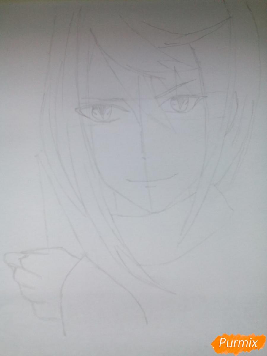 Рисуем Карла Цукинами из аниме Дьявольские возлюбленные - шаг 4