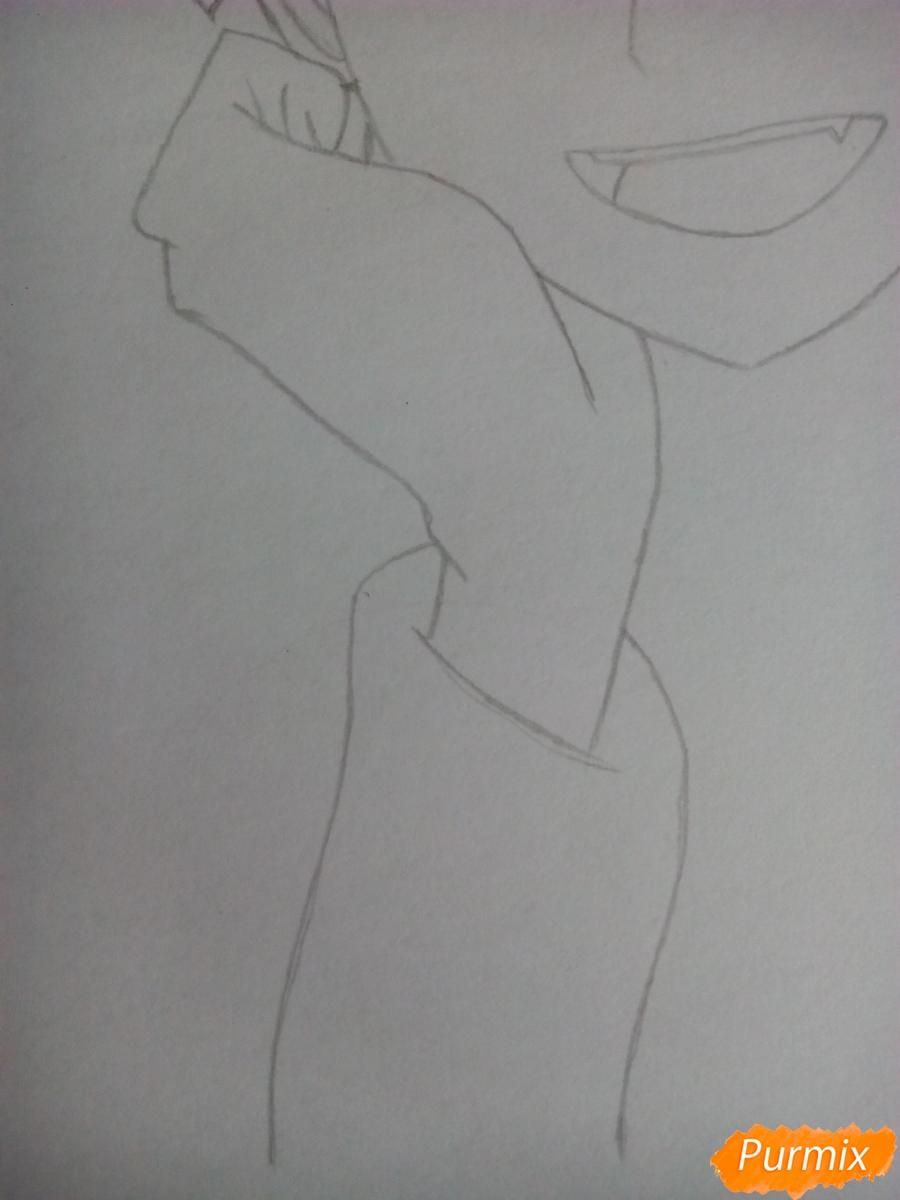 Рисуем Карму Акабане из аниме Класс убийц - шаг 4
