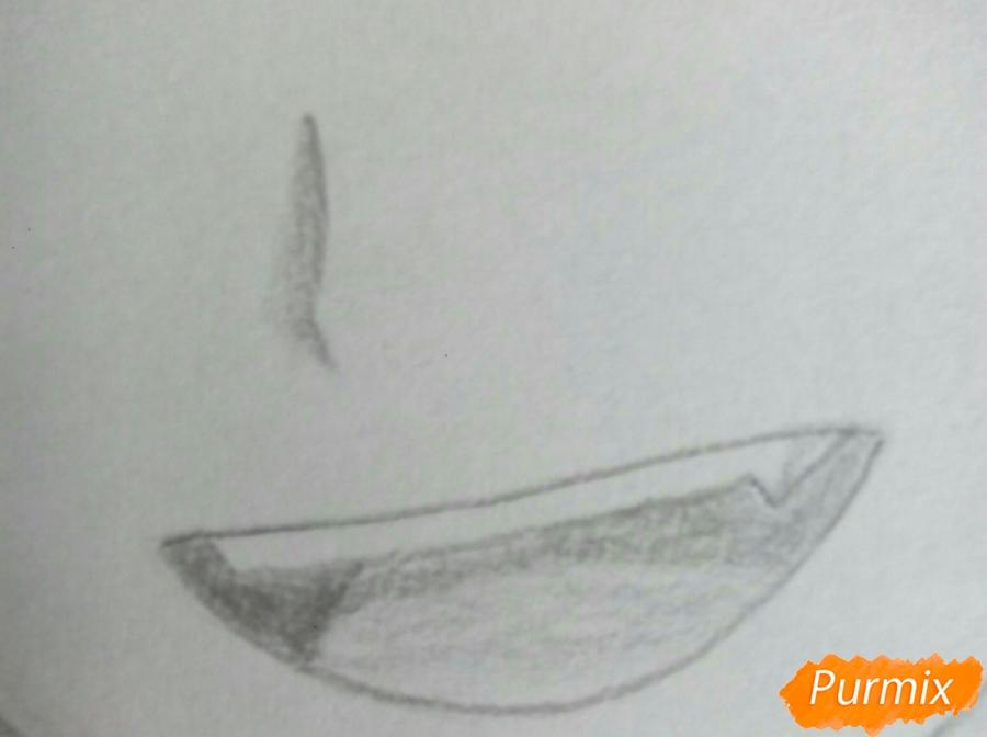 Рисуем Карму Акабане из аниме Класс убийц - шаг 7