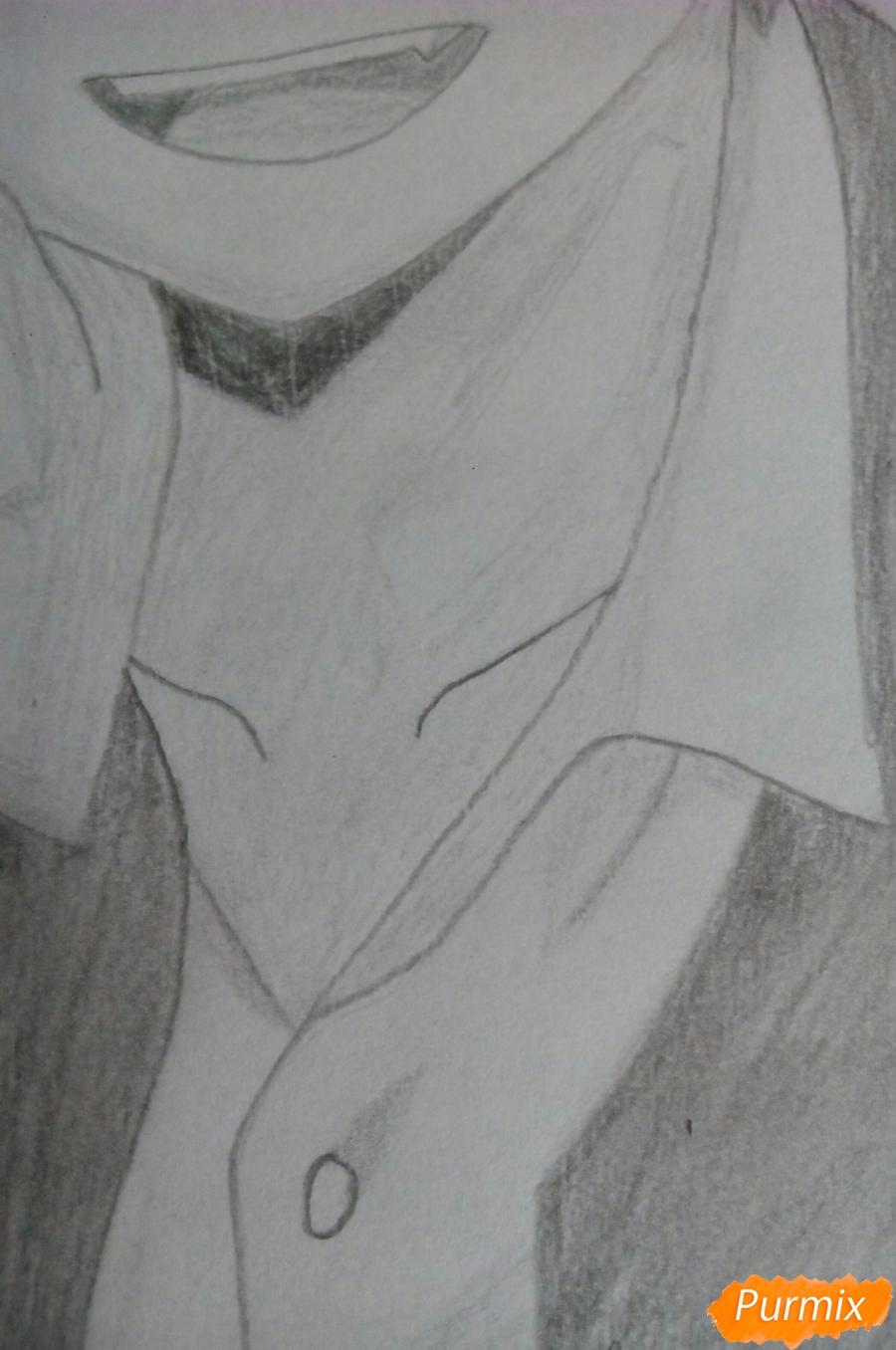 Рисуем Карму Акабане из аниме Класс убийц - шаг 8