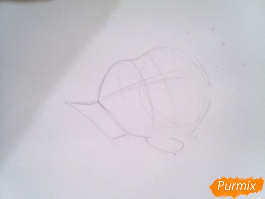 Рисуем Кинга из аниме Семь Смертных Грехов карандашами - шаг 1
