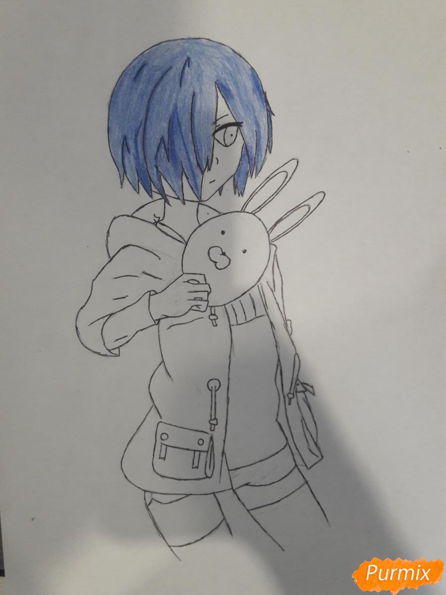 Рисуем Киришима Тоука с маской зайца - шаг 10