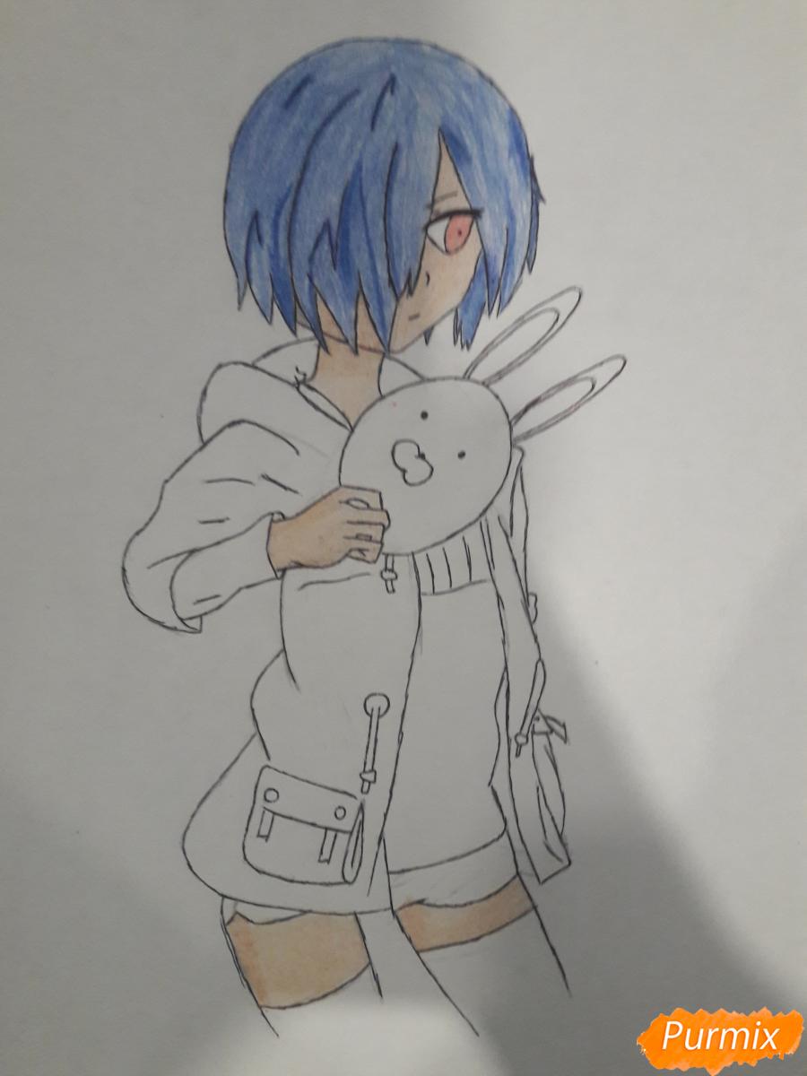 Рисуем Киришима Тоука с маской зайца - шаг 11