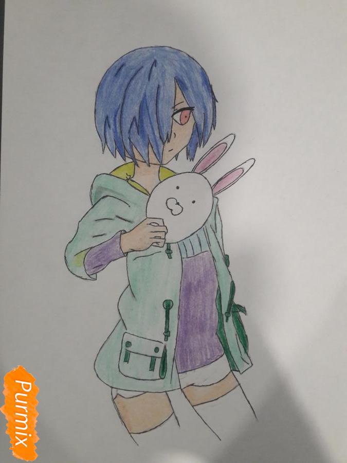 Рисуем Киришима Тоука с маской зайца - шаг 13