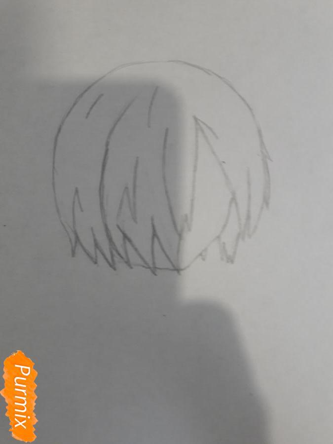 Рисуем Киришима Тоука с маской зайца - шаг 2