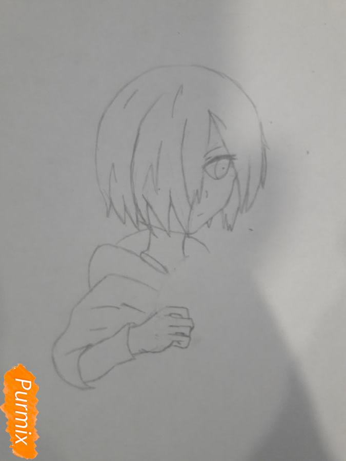 Рисуем Киришима Тоука с маской зайца - шаг 4
