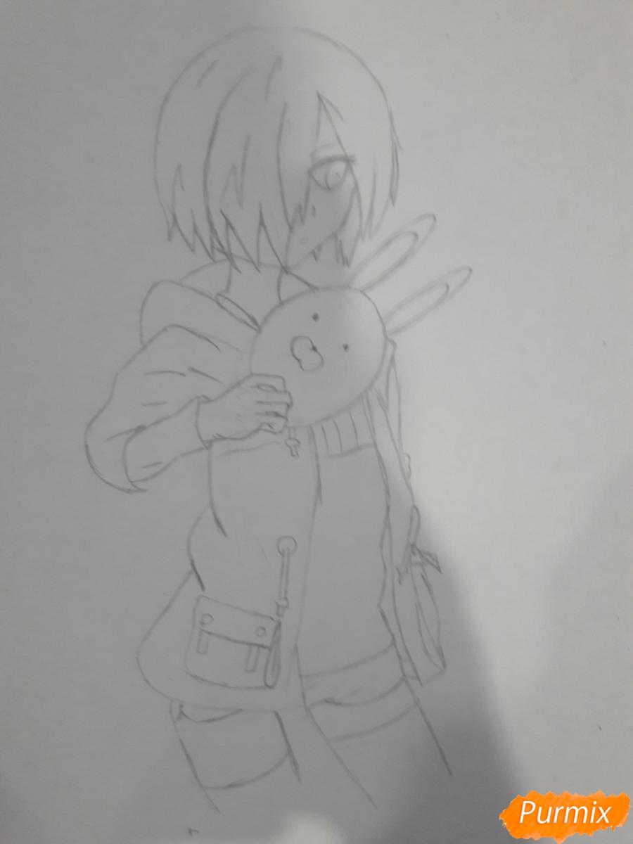 Рисуем Киришима Тоука с маской зайца - шаг 8