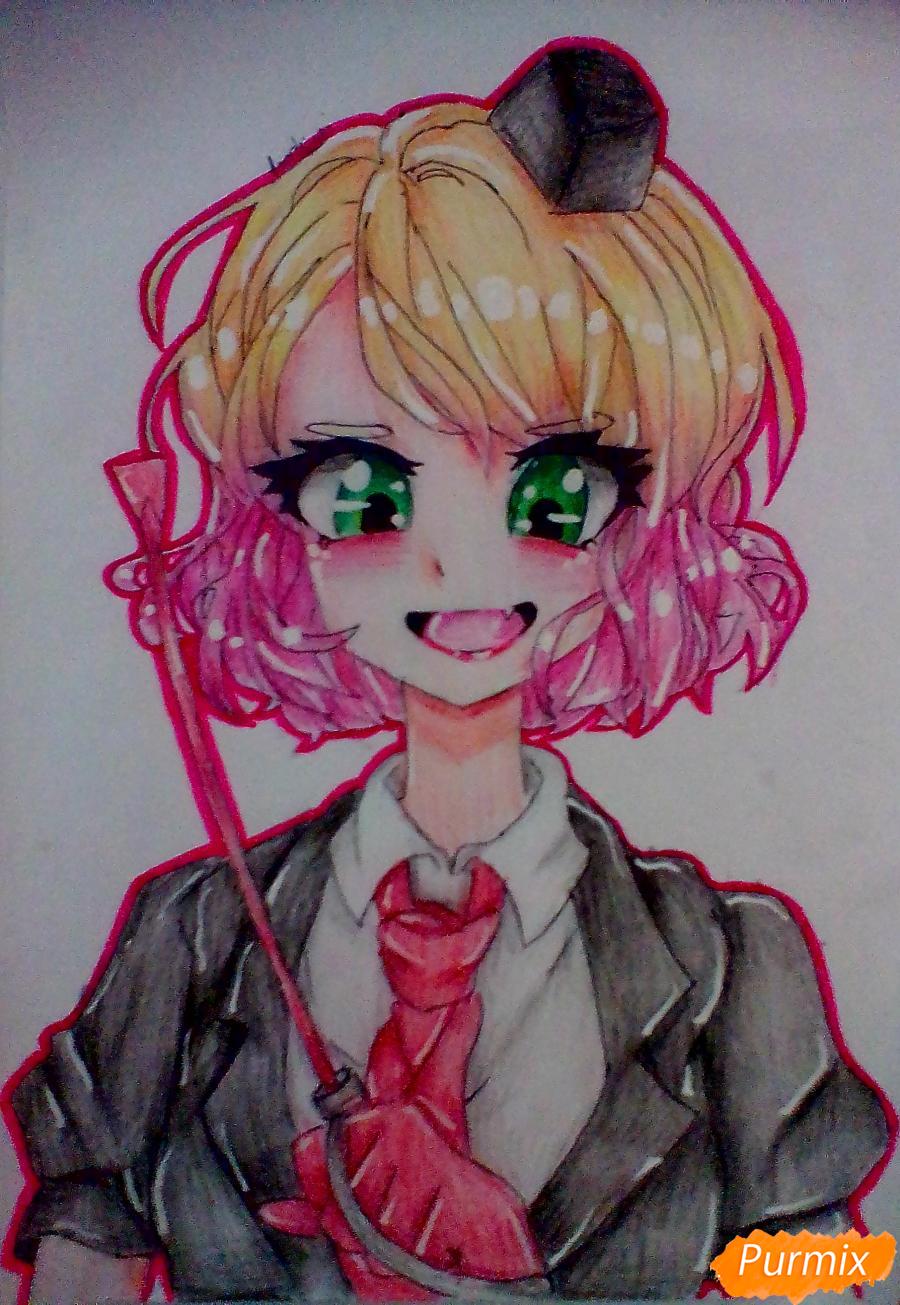 Как нарисовать Кэти Уорд из аниме Ангел Кровопролития карандашом поэтапно