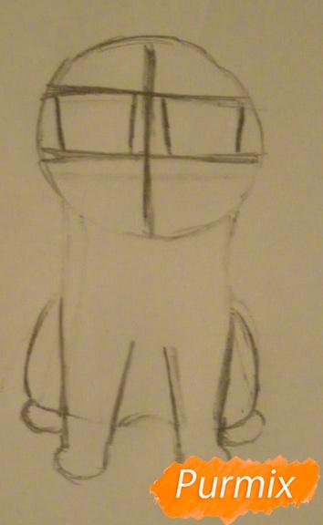 Рисуем кота Чии из аниме Милый дом Чии карандашами - шаг 2