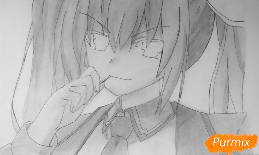 Рисуем Котори Ицуку из аниме Рандеву с жизнью - шаг 13