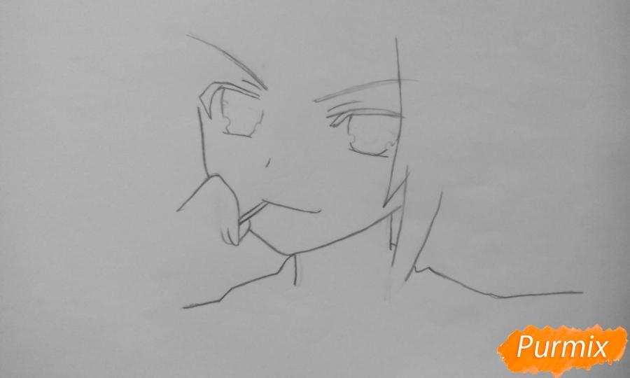 Рисуем Котори Ицуку из аниме Рандеву с жизнью - шаг 2