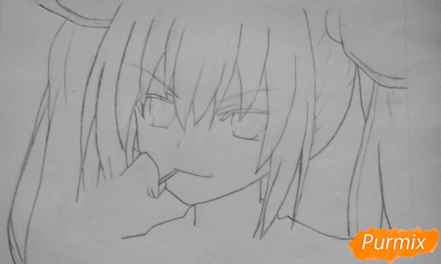 Рисуем Котори Ицуку из аниме Рандеву с жизнью - шаг 3