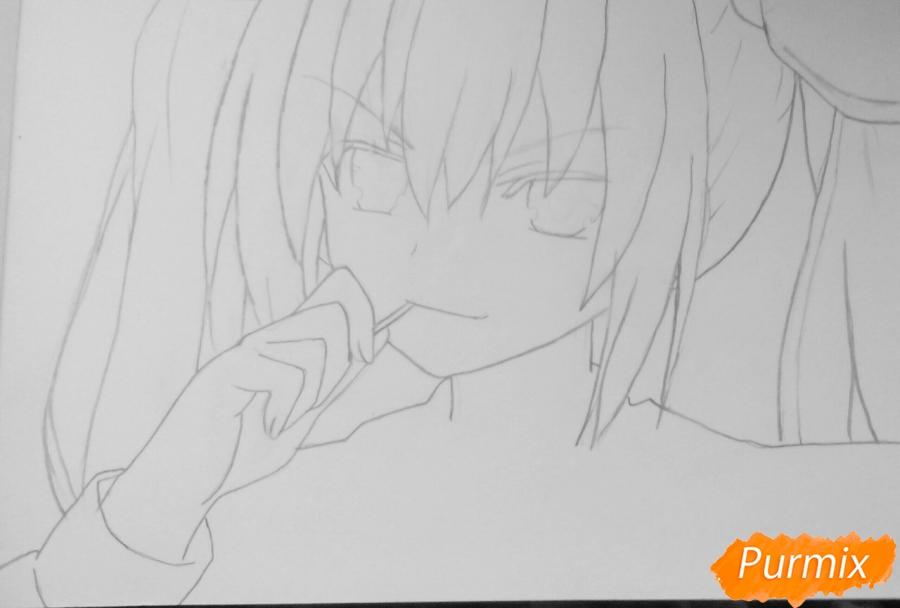 Рисуем Котори Ицуку из аниме Рандеву с жизнью - шаг 4