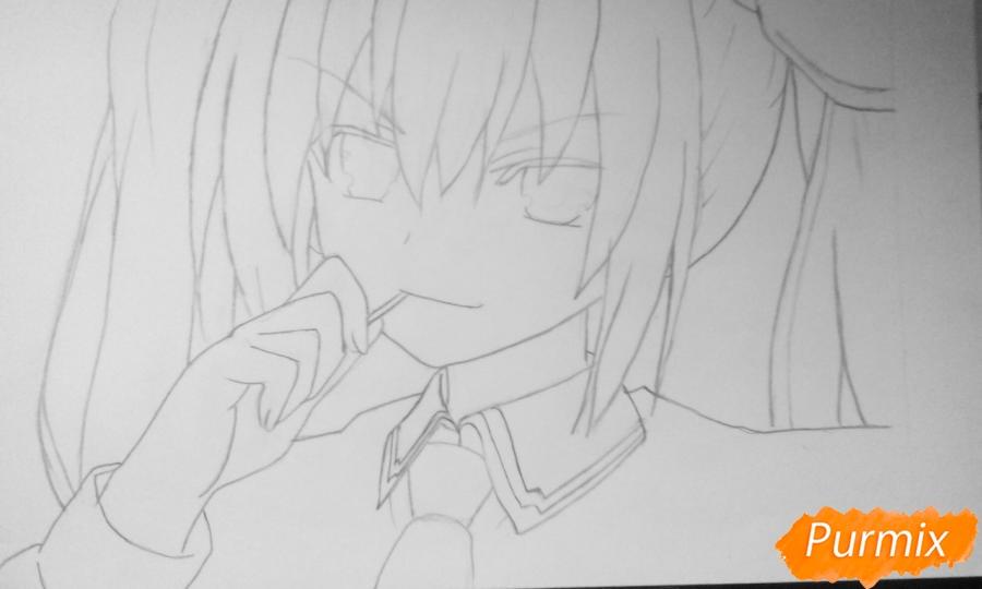 Рисуем Котори Ицуку из аниме Рандеву с жизнью - шаг 5