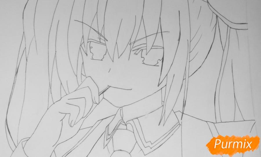Рисуем Котори Ицуку из аниме Рандеву с жизнью - шаг 7
