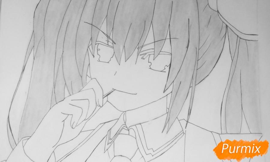 Рисуем Котори Ицуку из аниме Рандеву с жизнью - шаг 8