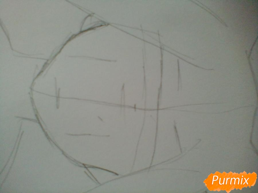 Рисуем кричащую аниме девушку карандашами - шаг 2