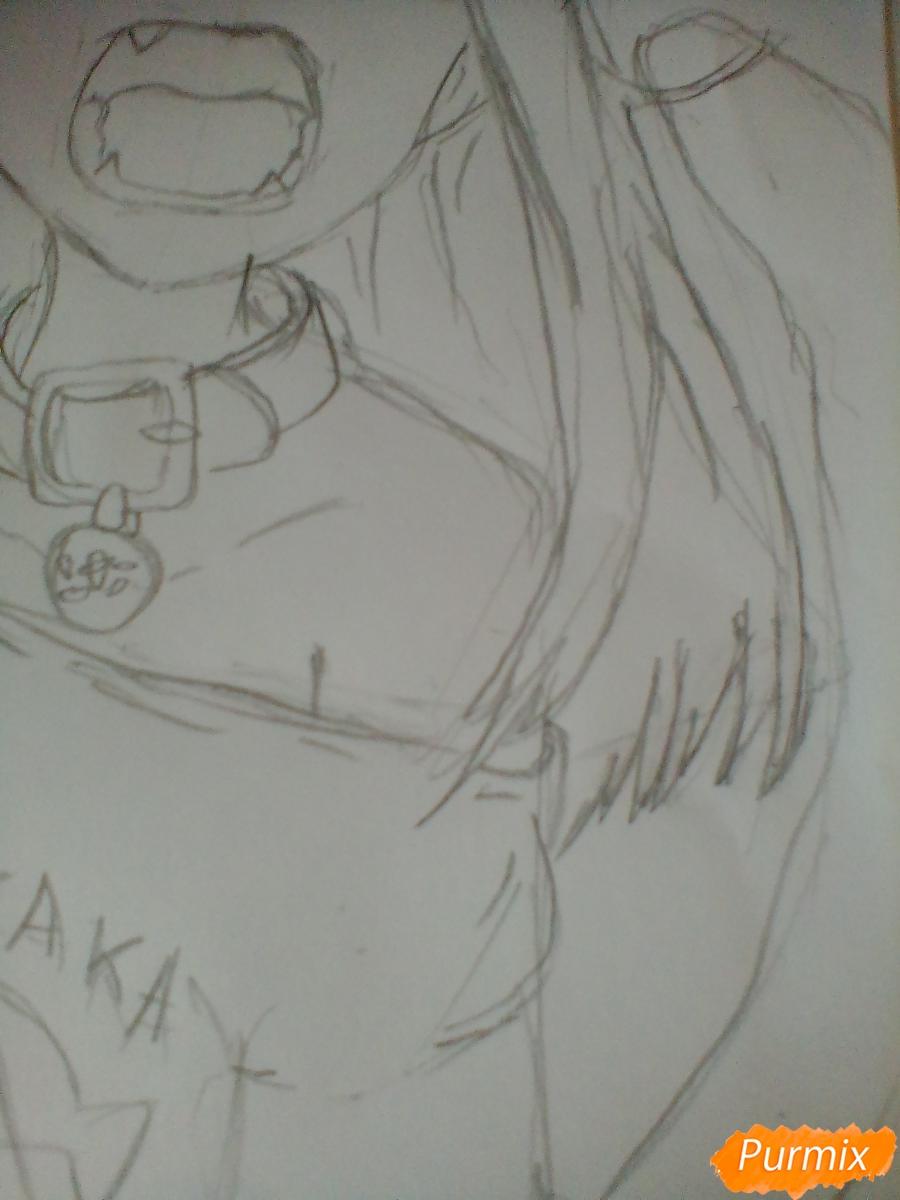 Рисуем кричащую аниме девушку карандашами - шаг 7