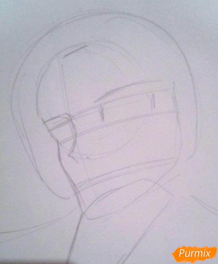 Рисуем Кроули Юсфорда из аниме Последний Серафим карандашами - шаг 2