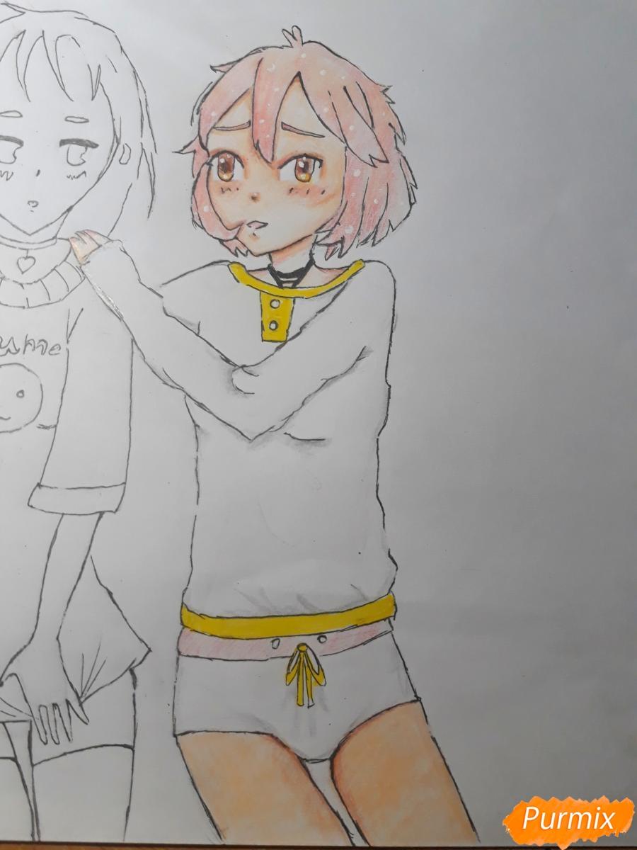 Рисуем Курияму Мирай и Мицуки Насэ из аниме За гранью - шаг 9