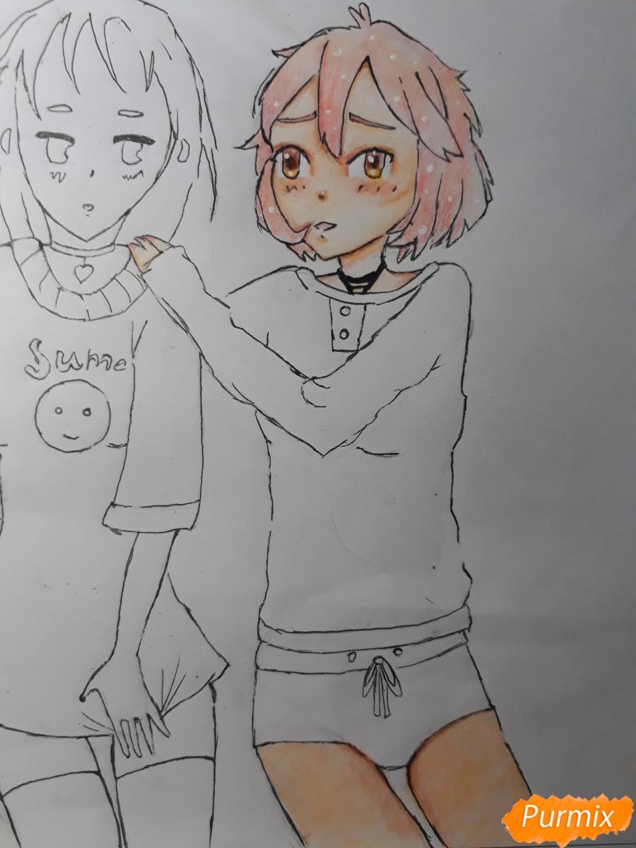 Рисуем Курияму Мирай и Мицуки Насэ из аниме За гранью - шаг 8