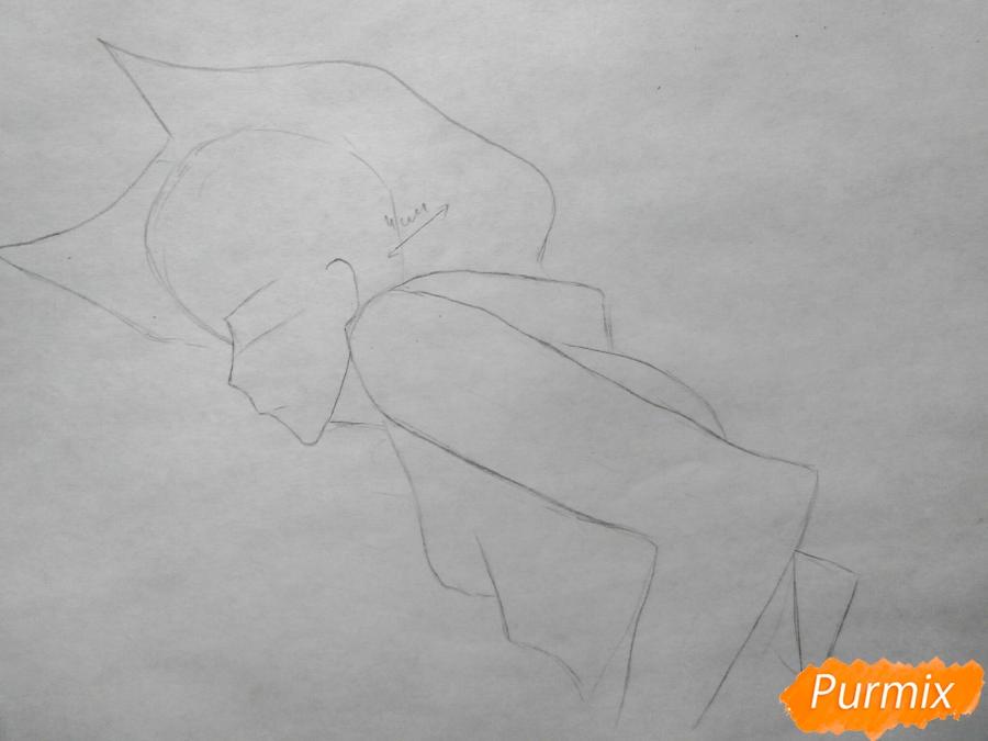 Рисуем Куро, слугу-вампира Лень из аниме Сервамп - шаг 1