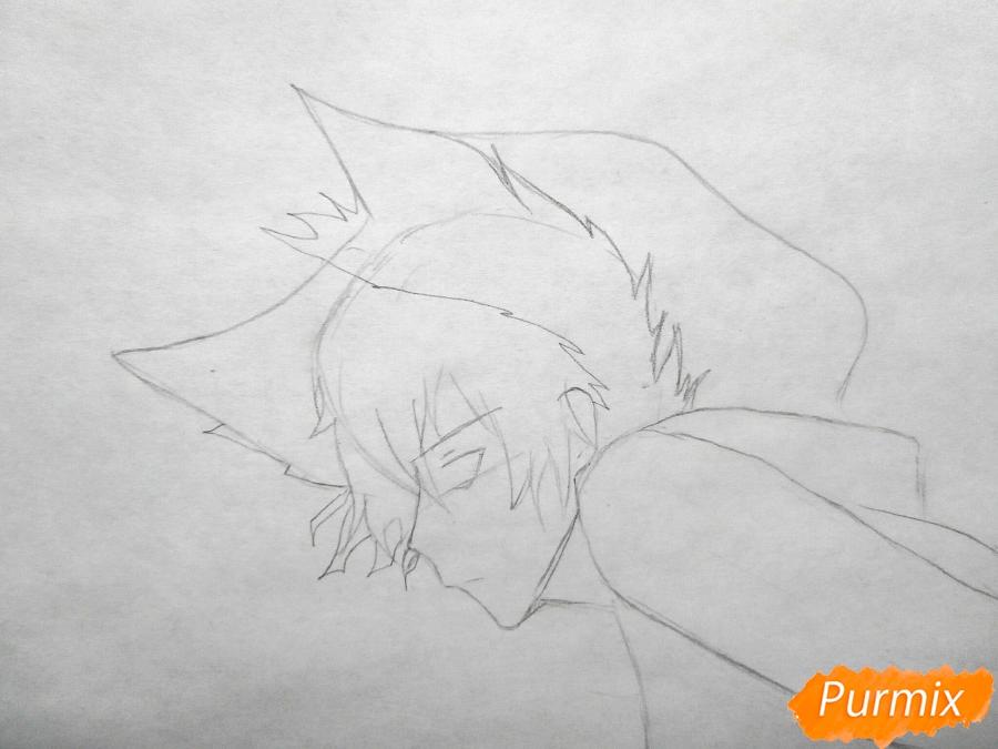 Рисуем Куро, слугу-вампира Лень из аниме Сервамп - шаг 2