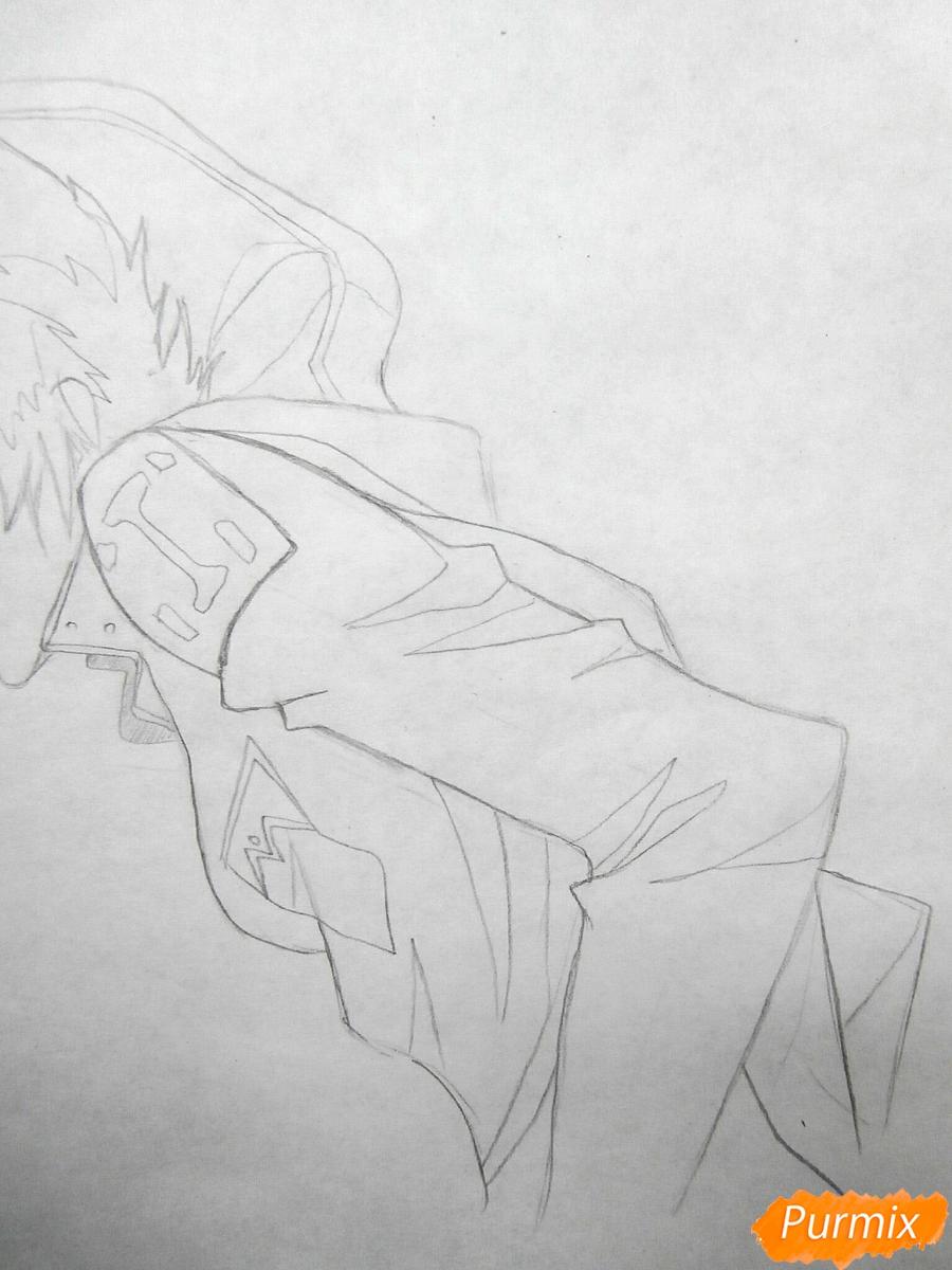 Рисуем Куро, слугу-вампира Лень из аниме Сервамп - шаг 4