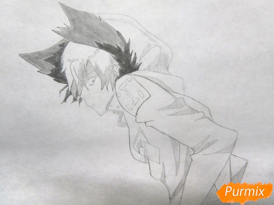 Рисуем Куро, слугу-вампира Лень из аниме Сервамп - шаг 6