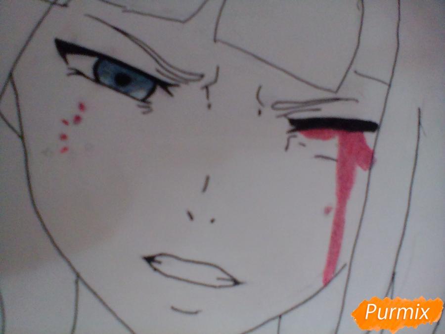 Рисуем Курону Ясухису из аниме Токийский гуль - шаг 5