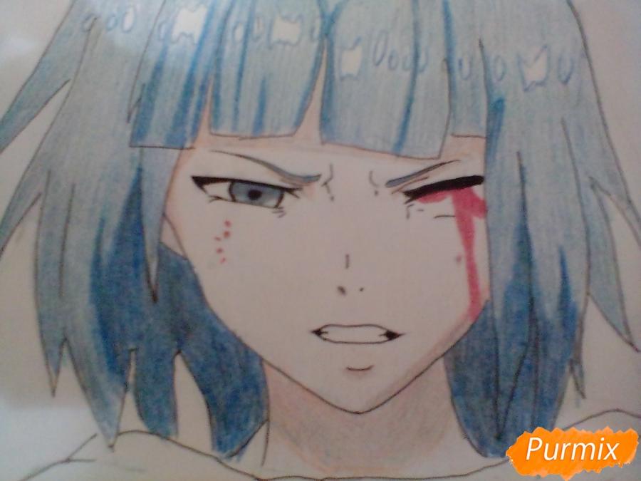 Рисуем Курону Ясухису из аниме Токийский гуль - шаг 7