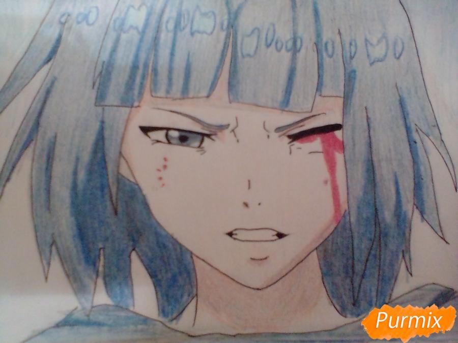 Рисуем Курону Ясухису из аниме Токийский гуль - шаг 8