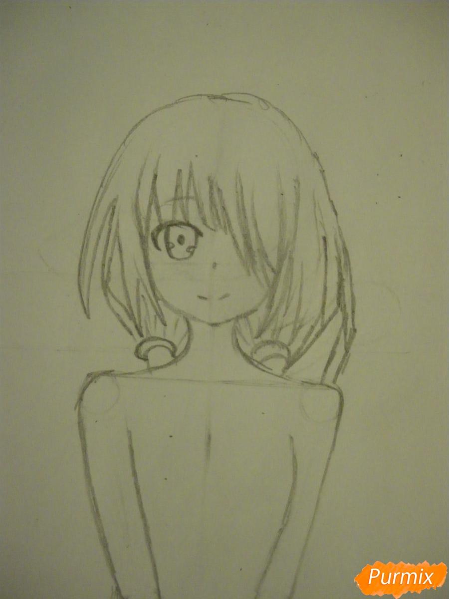 Рисуем Куруми Токисаки из аниме Рандеву с жизнью - шаг 4