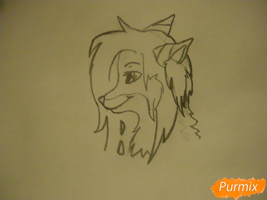 Рисуем лисичку Трикси в стиле аниме - шаг 3