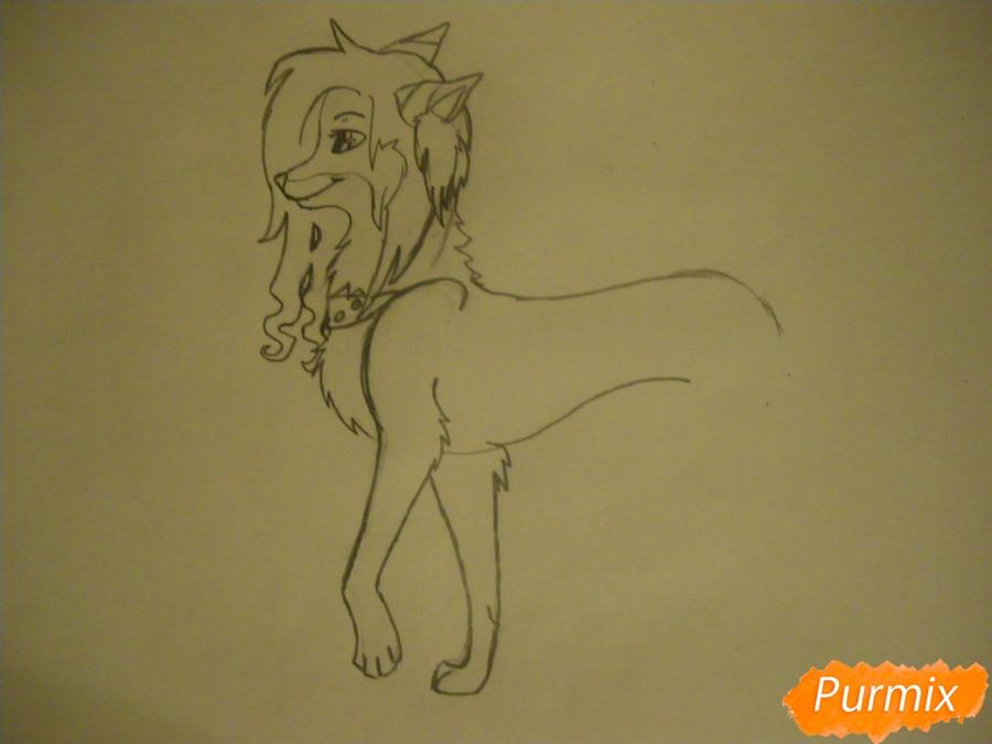 Рисуем лисичку Трикси в стиле аниме - шаг 5