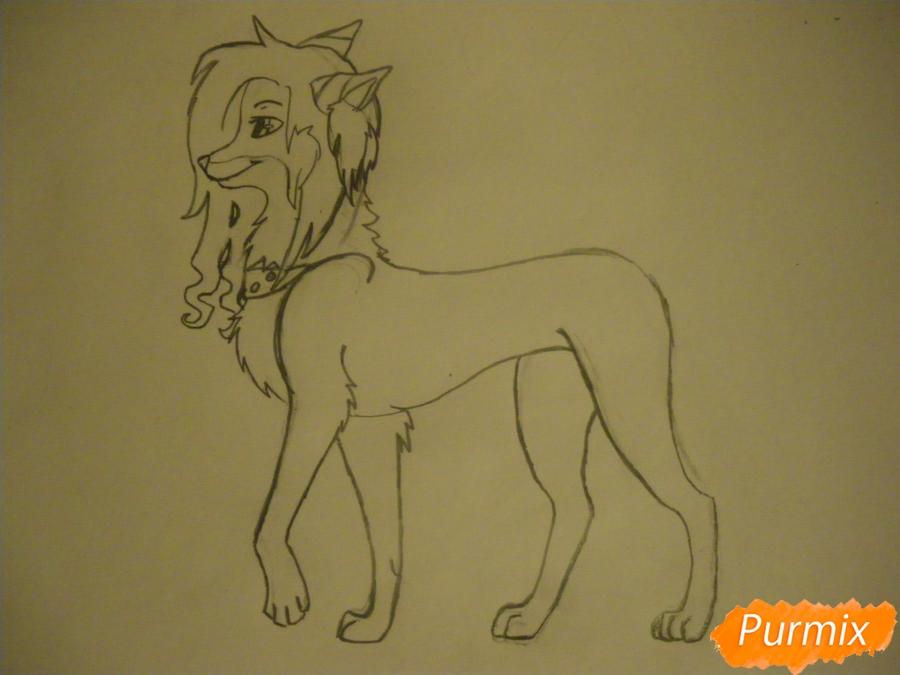 Рисуем лисичку Трикси в стиле аниме - шаг 6