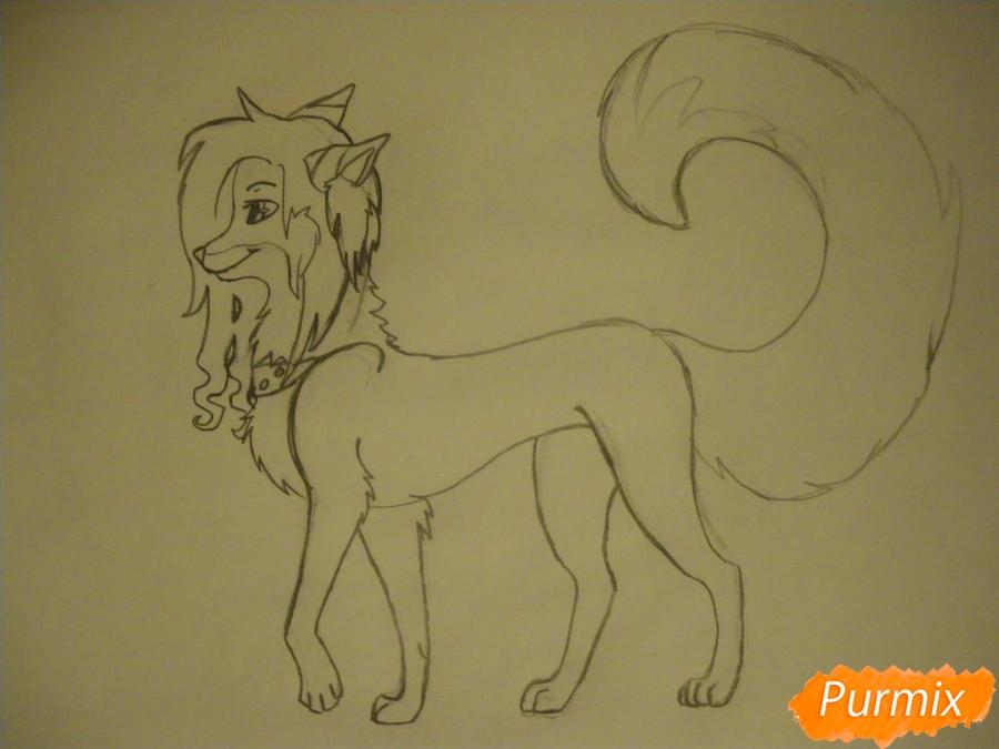 Рисуем лисичку Трикси в стиле аниме - шаг 7