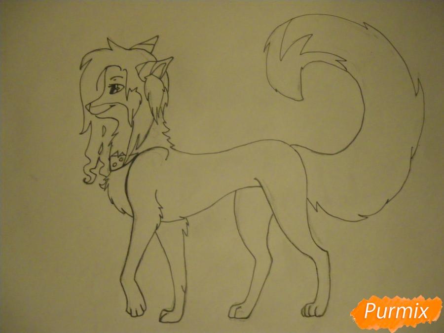 Рисуем лисичку Трикси в стиле аниме - шаг 8