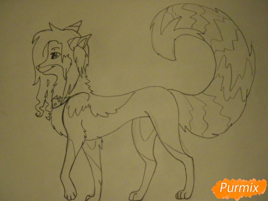 Рисуем лисичку Трикси в стиле аниме - шаг 9