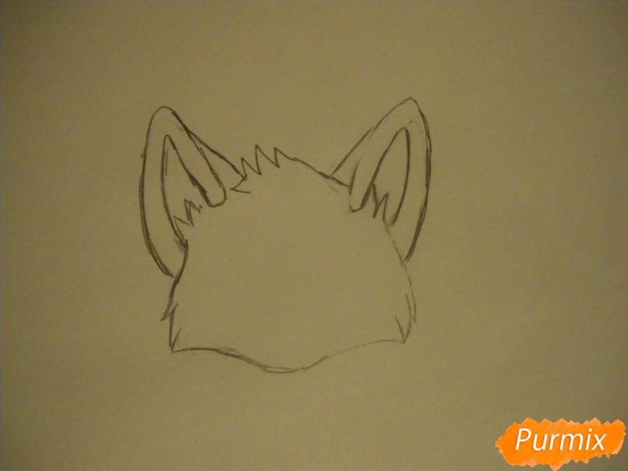 Рисуем маленького аниме лисёнка - шаг 1