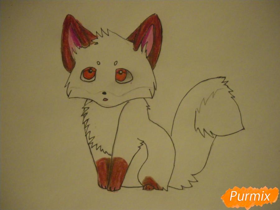 Рисуем маленького аниме лисёнка - шаг 7