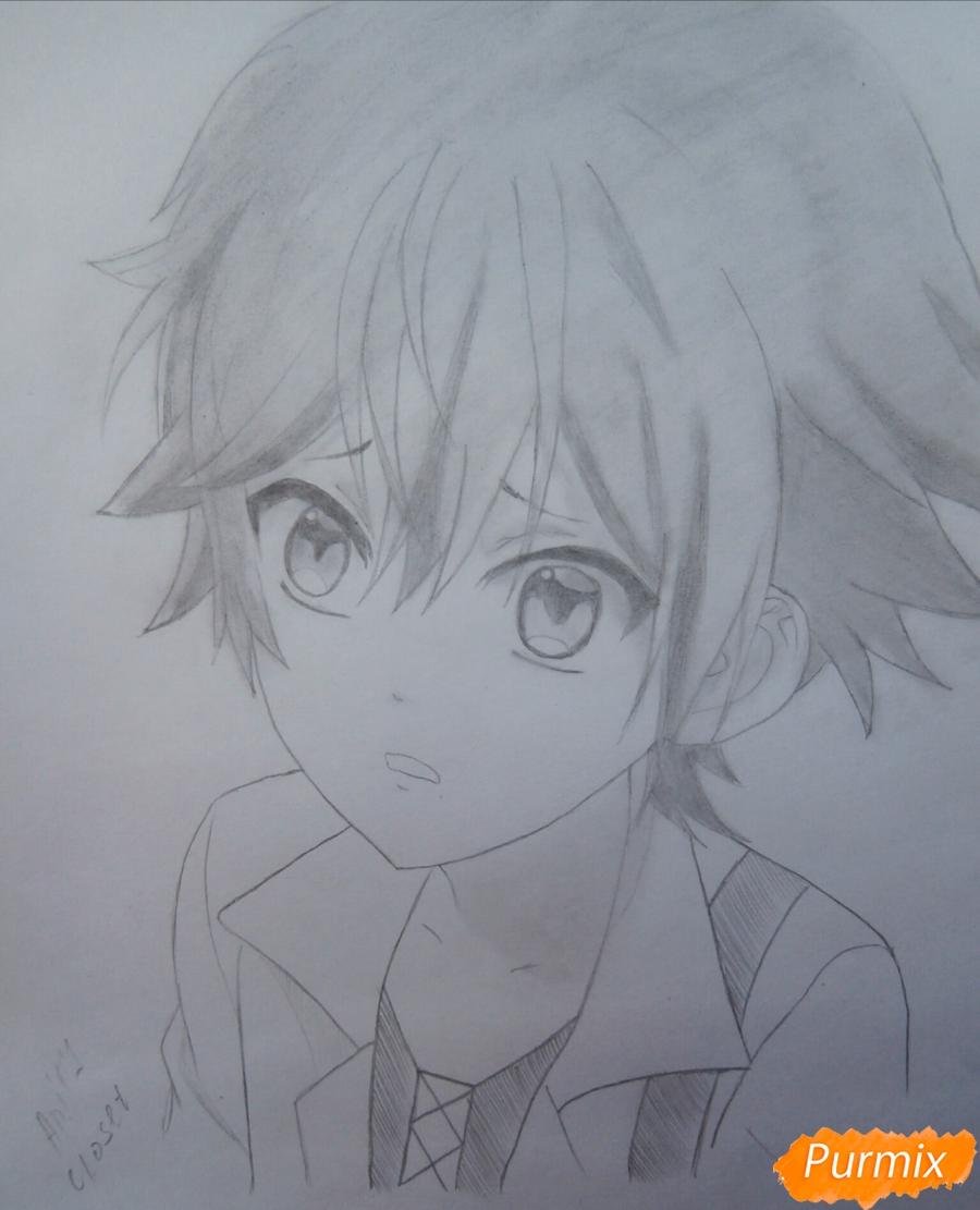 Рисуем маленького Аято Сакамаки - шаг 11
