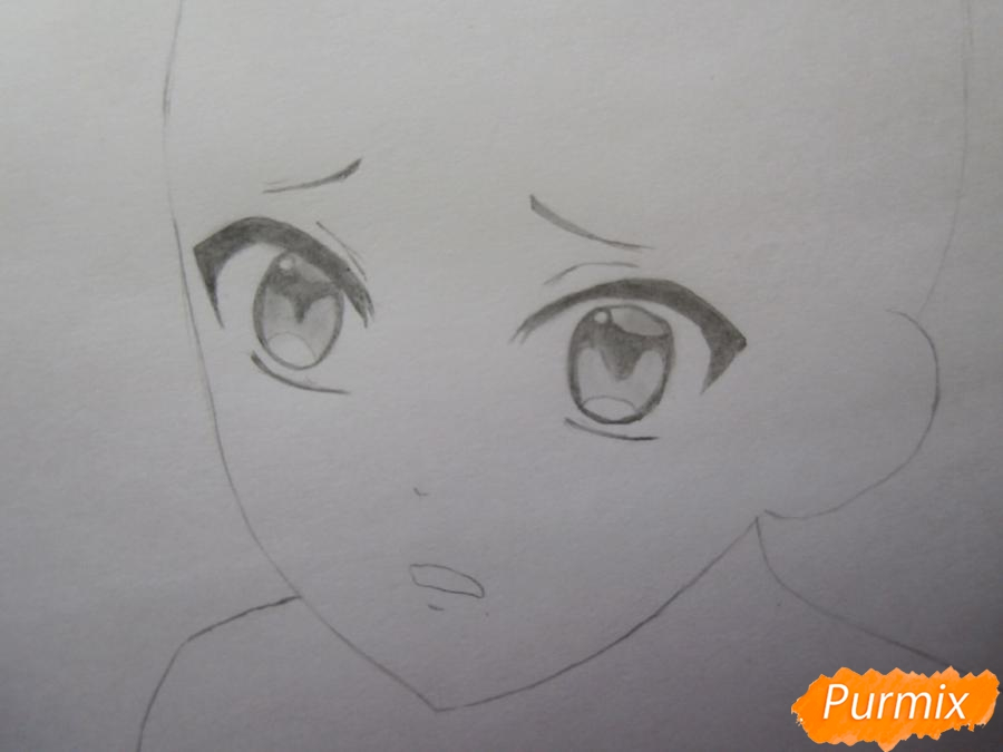 Рисуем маленького Аято Сакамаки - шаг 5