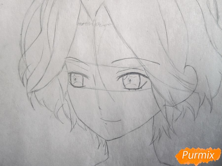 Рисуем маленького Райто Сакамаки - шаг 3